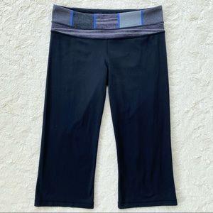 Lululemon groove crop reversible leggings black 8